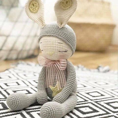 編みぐるみ うさぎ 出産祝い 女の子 男の子 プレゼント あみぐるみ 子供