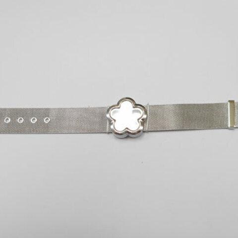 SHAREKI ガラスロケット 腕時計Cタイプ 花型 シルバー