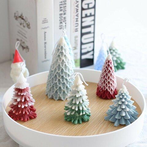1P Nart Candle しだれ松クリスマスツリー(小)のモールド シリコンモールド キャンドルモールド クリスマス 樹