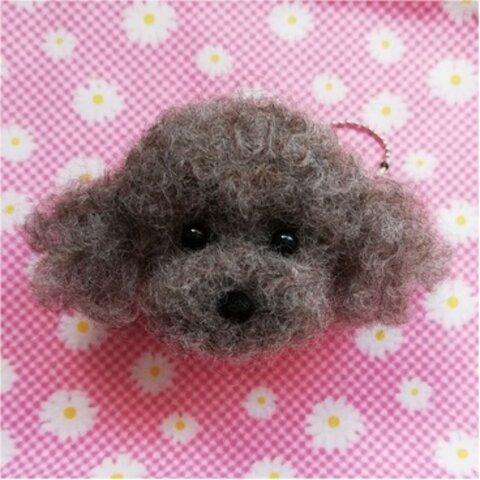 ちまっと可愛い♡羊毛トイプーちゃんキーホルダー☆犬