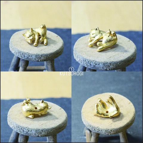 cat DE mouse ハンドメイドパーツ 2個セット ≪ゴールド≫ 全5型
