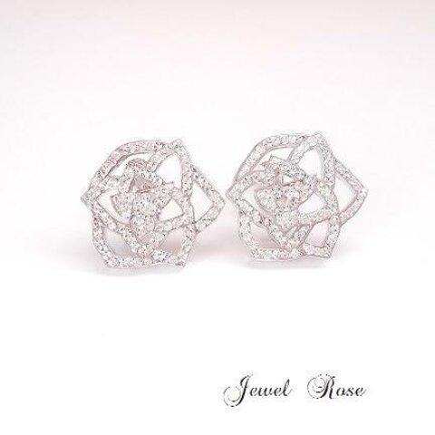 ~ crystal Rose  earring~ グルーデコ