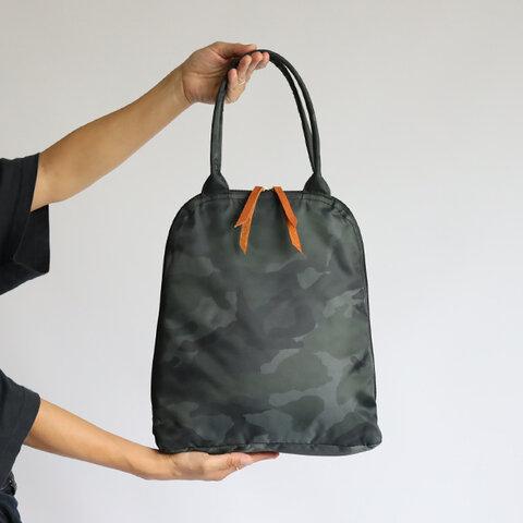 新作 軽量 約230g「賢良な鞄」 クッション入り ナイロン カモフラ 縦長トート バッグ A4サイズ可 肩掛けP38B