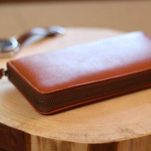 限定 家具屋さんが考えた本革キャメル 財布 本革 レザー 長財布 財布