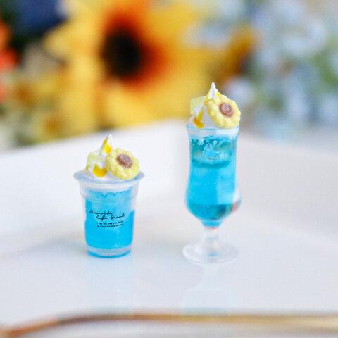 【夏季限定】向日葵のクリームソーダ ミニチュア