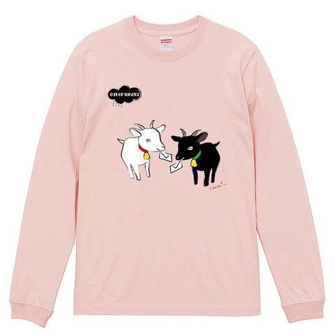 白ヤギ黒ヤギ 仲良し山羊さんペア イラスト ロングTシャツ 0507 リミテッドカラー