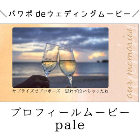 パワーポイントで自作するプロフィールムービー用テンプレート【pale】