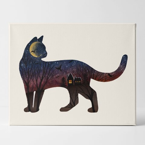 〜Halloween Cat〜猫のシルエットアート
