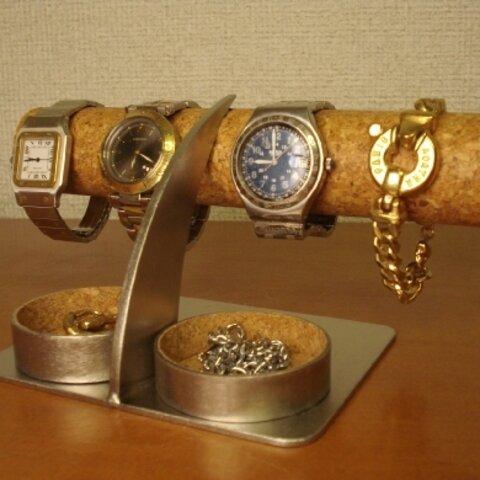 クリスマスにどうぞ 丸いダブルトレイ腕時計スタンド  No.81024