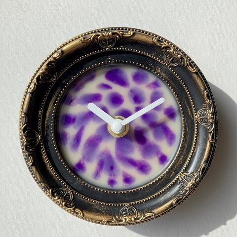 レジン クロック ウッド おしゃれ かっこいい 壁掛け時計(No114)