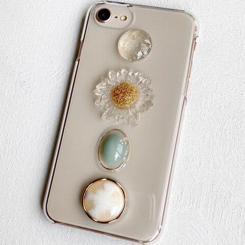 【iPhone13シリーズ対応】clear-flower スマホケース/iPhoneケース