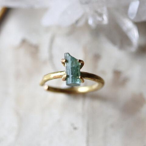 【一点物】原石トルマリンのイヤーカフ/リング