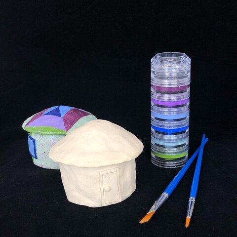 陶器の立体塗り絵(2個セット)