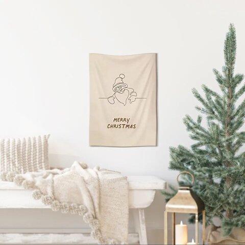 サンタクロース クリスマスタペストリー ファブリックポスター
