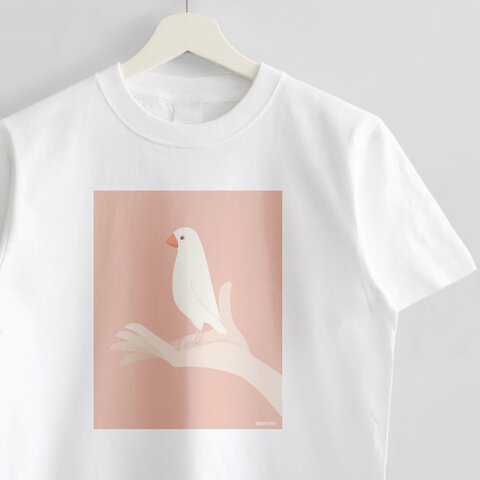 Tシャツ(手タクシー / 白文鳥)