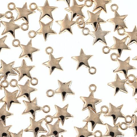 チャーム 星 ゴールド 50個 セット スター カン付き 7mm 小さめ アクセサリートップ パーツ ハンドメイド 手芸 AP2578