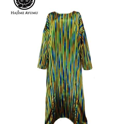 【現品1点限り‼︎】HAJIME AYUMU 高級西陣織 シルクデザインロングワンピース Freeサイズ 絹100%