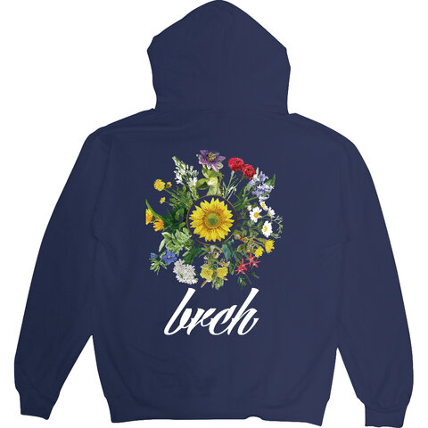 BRCH Flower 裏起毛hoodie ネイビー