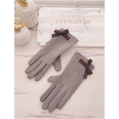 女性用  選べる5色 スマホ対応手袋  クリスマス手袋 防寒