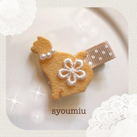 動物クッキー (ねこ) ♡ヘアクリップ (ベビー&キッズ)