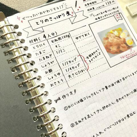 ♡書き込みたくなる♡レシピ(シートタイプ)