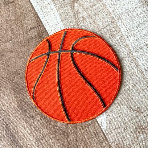 【大きい】バスケットボール アップリケ (PM-Basketball)