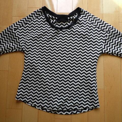 バックリボンゆるTシャツ*モノトーン*Sサイズ