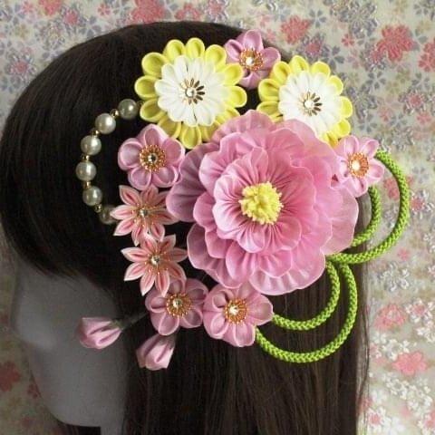 桜の髪飾り primavera/卒業式 入学式 結婚式 成人式