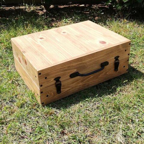 受注制作   木製 トランクテーブル キャンプ ピクニック