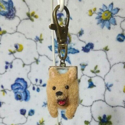 【羊毛】やっほー♥ポメラニアンキーホルダー【犬】