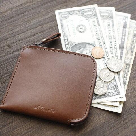 カードも小銭もお札も入る♪ 栃木レザー L型ウォレット 本革 財布 日本製 カラー変更可