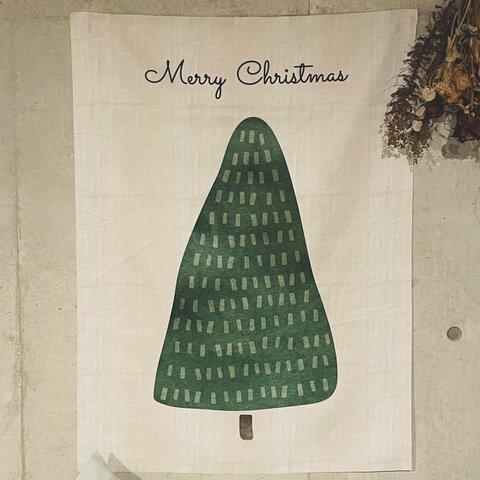 【最新作】*クリスマスタペストリー*おうちクリスマス・お部屋に季節を呼び込むタペストリー・インテリア・タペストリー