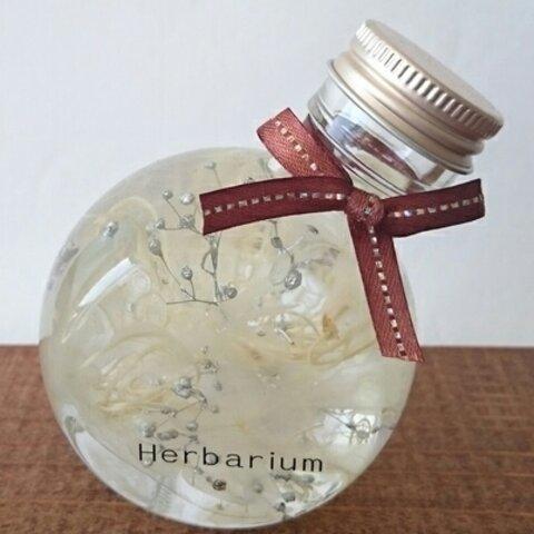 ハーバリウム*simple*白猫瓶