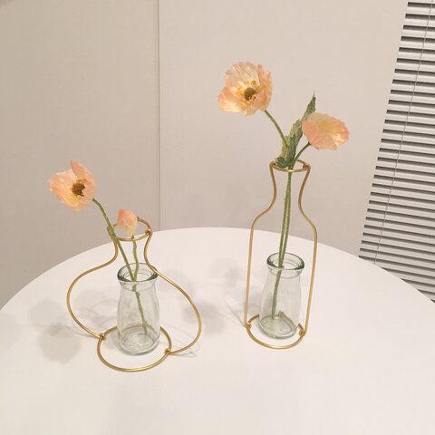 フラワーベース+瓶 set【花瓶】韓国インテリア