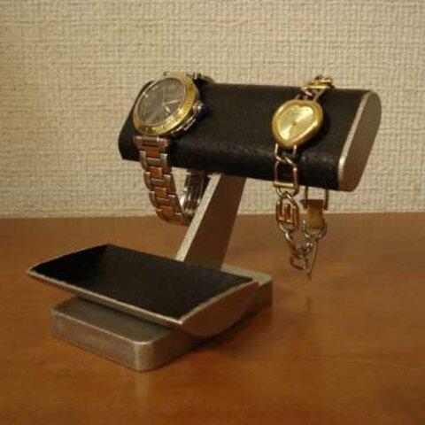 腕時計スタンド ブラックだ円2本掛けインテリアディスプレイスタンド ak-design N12529
