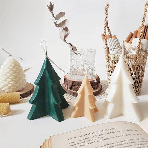 1p Nart Candle (小)クリスマスツリーのモールド アクリルモールド キャンドルモールド クリスマス 樹