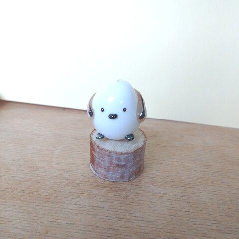 シマエナガとんぼ玉(ガラス製)