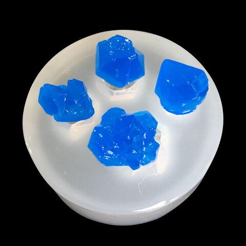 シリコンモールド (鉱物 4種)水晶 シリコン型 レジン 型 鉱石  レジンパーツ