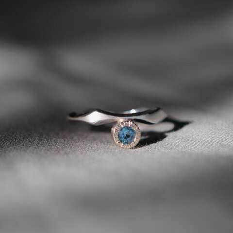 K10YG and SILVER925 ⭐︎ combination topaz ring