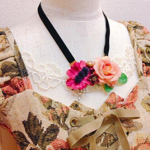 造花ネックレス