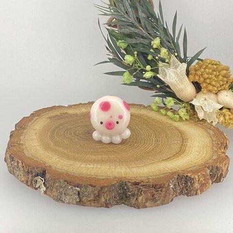 【水玉タコのマグネット】 タコ マグネット たこ ピンク 水玉 送料無料