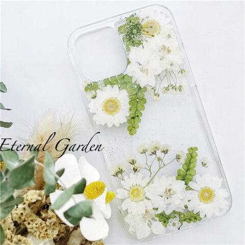 シンプル 押し花 スマホケース GalaxyS20  iPhoneSE2 Xperia1 II SO-51A  Xperia10 II  iPhone11 iPhone11pro