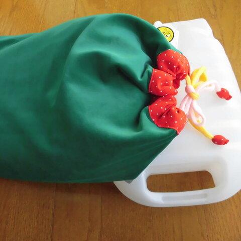 湯たんぽカバー/緑・安心袋・3層布・保温効果・冬あったか・生活癒し袋・プレゼント