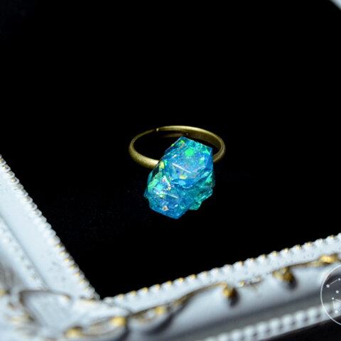 宇宙鉱石のリング-氷隕石-