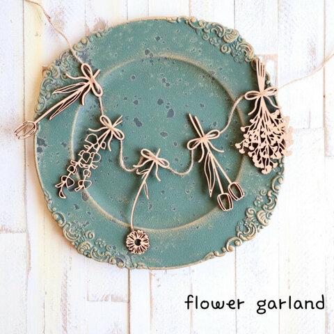 木製 お花のガーランド  5種類セット お誕生日 インテリア に♡flowerGarland