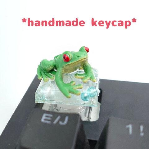 自作キーキャップ アカメアマガエル キートップ かえる 蛙