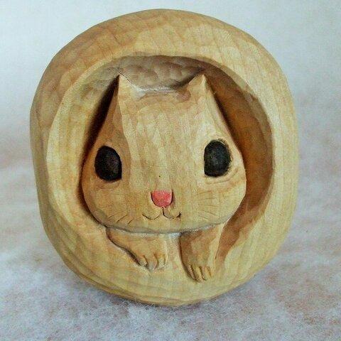 ♪エゾモモンガ♪木彫りの小物入れBOX♪