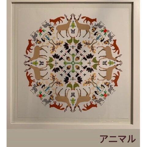 スティッカーマンダラアート/アニマル