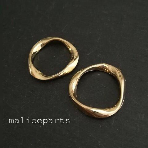 【2168】③6個 Wave design ring