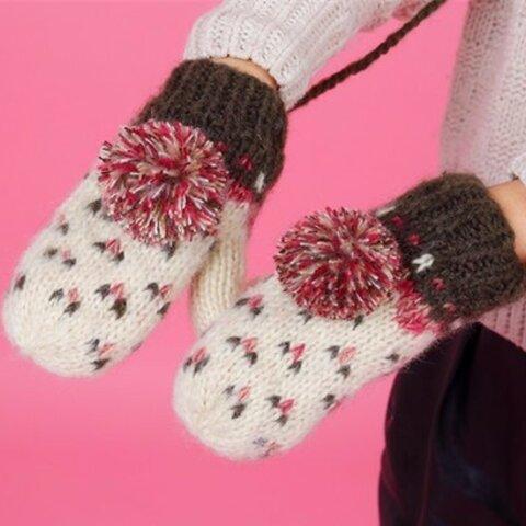 【受注生産】【Lady's】ほっこりあたたか冬手袋 NO:006